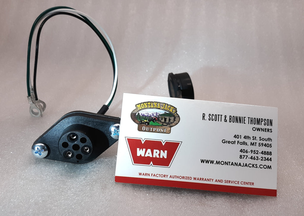 WARN 16296 Winch Remote Control Socket,  3 Wire, 12 volt, for WARN Truck Winches