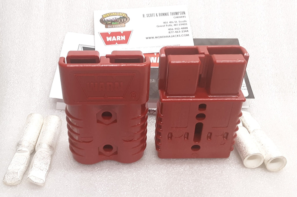 WARN 22680 Quick Connect Plugs, 175 amp for 2-4 ga. Cable, One Pair