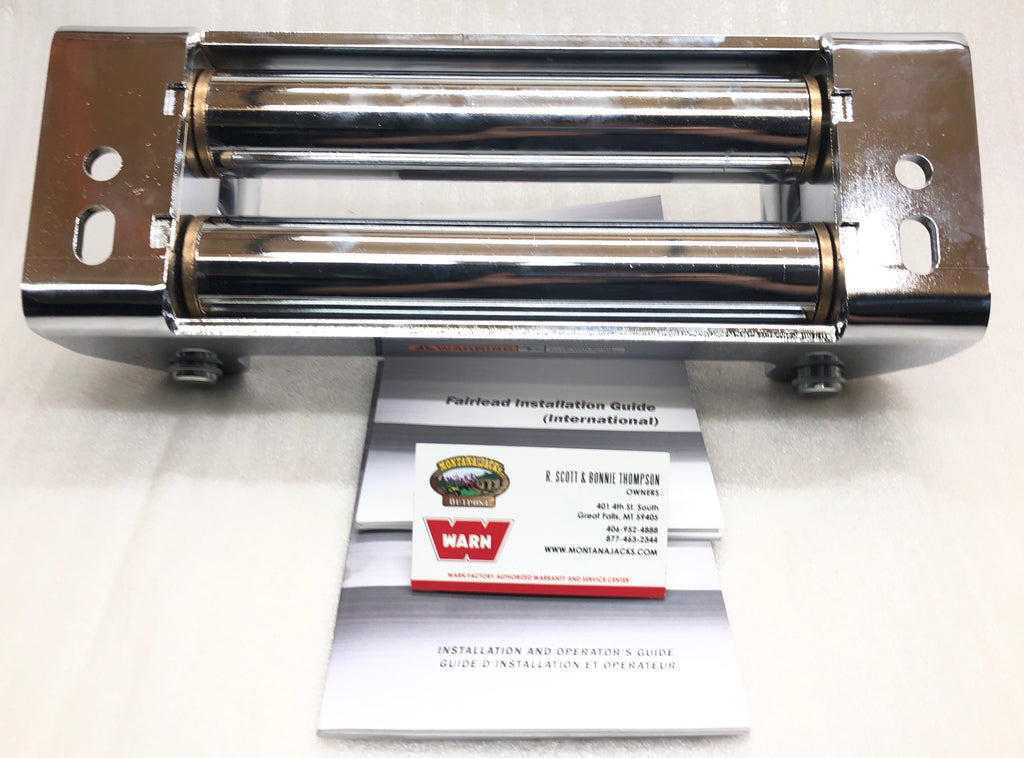 "WARN 30859 Chrome Fairlead Roller Assembly, 12"" for Winches with 10"" Drum"
