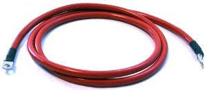 "WARN 33295 Winch Electrical Cable, 72"" 2 Gauge Red, Power Supply"