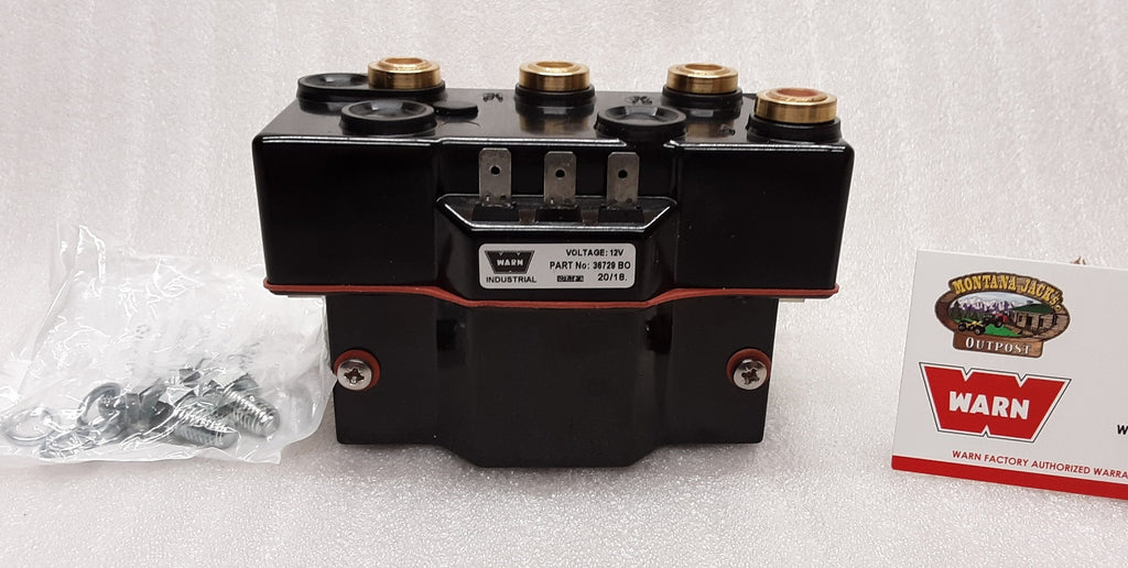 WARN 34971 Industrial Winch Contactor, 12v, Triple Coil