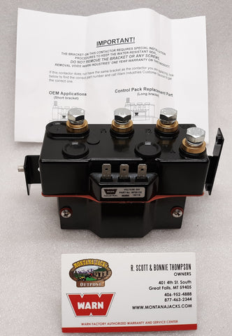 WARN 34978 Contactor for Series Industrial Winch, 24 volt, with bracket