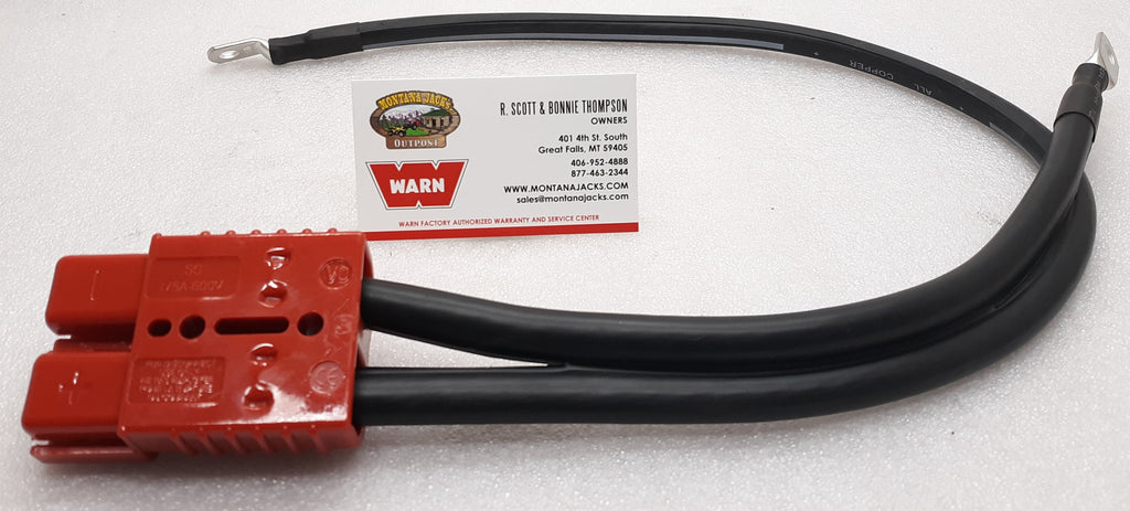 "WARN 36080 Quick Connect Power Cable 28"" 2 gauge, for connection to Winch"