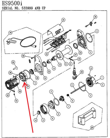 WARN winch parts listed by WARN part number, FREE SHIPPING