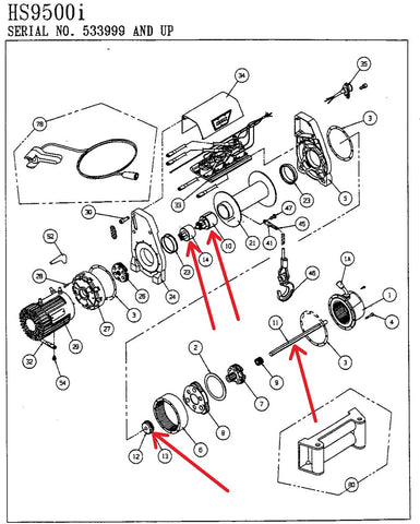 warn winch parts listed by warn part number free shipping over Warn Winch Control Switch Assembly Diagram sold out warn 39438 winch brake assembly for hs9500i
