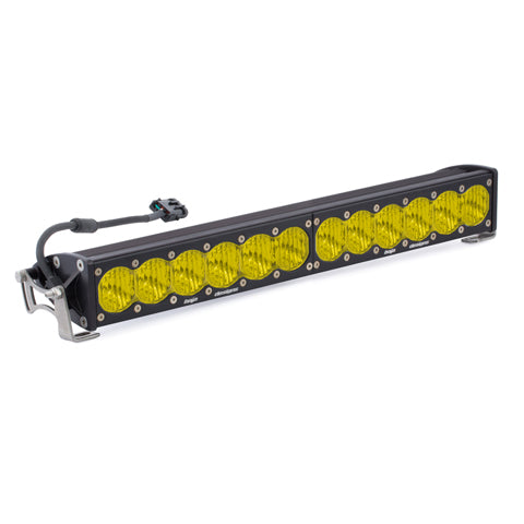 BAJA DESIGNS 452014 20 Inch LED Light Bar Single Amber Straight Wide Driving Combo Pattern OnX6
