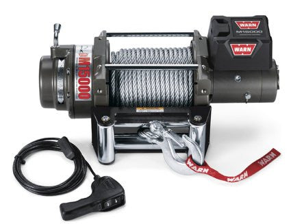 WARN 47801 M15000 Winch 12 Volt, 90' Steel Rope