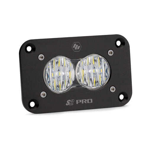 BAJA DESIGNS 481005 LED Work Light Flush Mount Clear Lens Wide Cornering Pattern S2 Pro