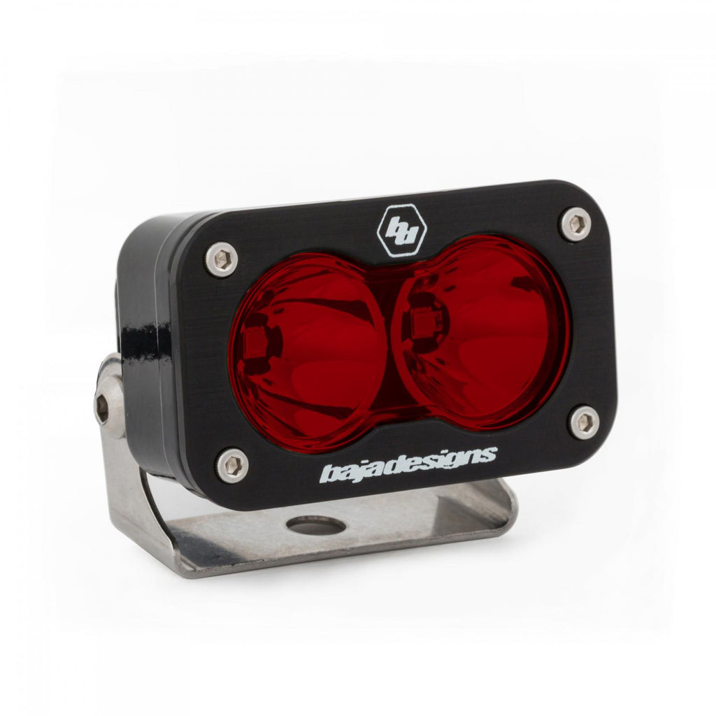 BAJA DESIGNS 482103 LED Work Light Red Lens Spot Pattern S2 Pro