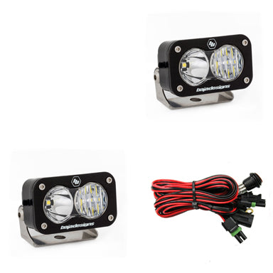 BAJA DESIGNS 487803 LED Light Pods Driving Combo Pattern Pair S2 Pro Series