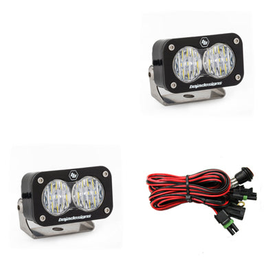 BAJA DESIGNS 487805 LED Light Pods Wide Cornering Pattern Pair S2 Pro Series