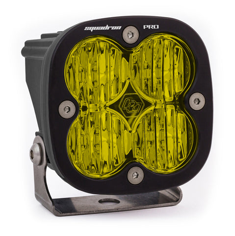 BAJA DESIGNS 490015 LED Light Pod Black Amber Lens Wide Cornering Pattern Squadron Pro