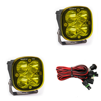 BAJA DESIGNS 497816 LED Light Pods Amber Lens Work/Scene Pattern Pair Squadron Pro Series