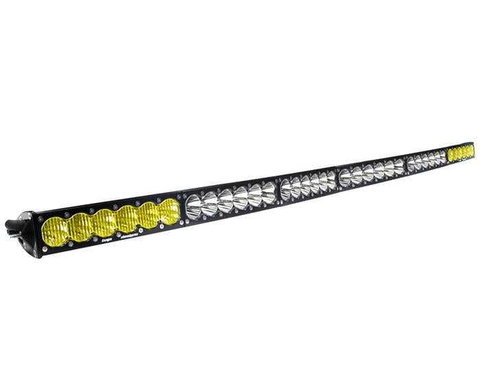 BAJA DESIGNS 526003DC 60 Inch LED Light Bar Amber/Wide Wide Dual Control Pattern OnX6 Series