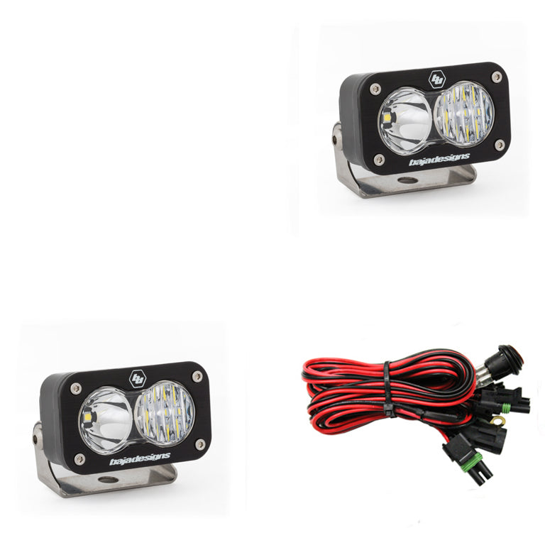 BAJA DESIGNS 547803 LED Work Light Clear Lens Driving Combo Pattern Pair S2 Sport
