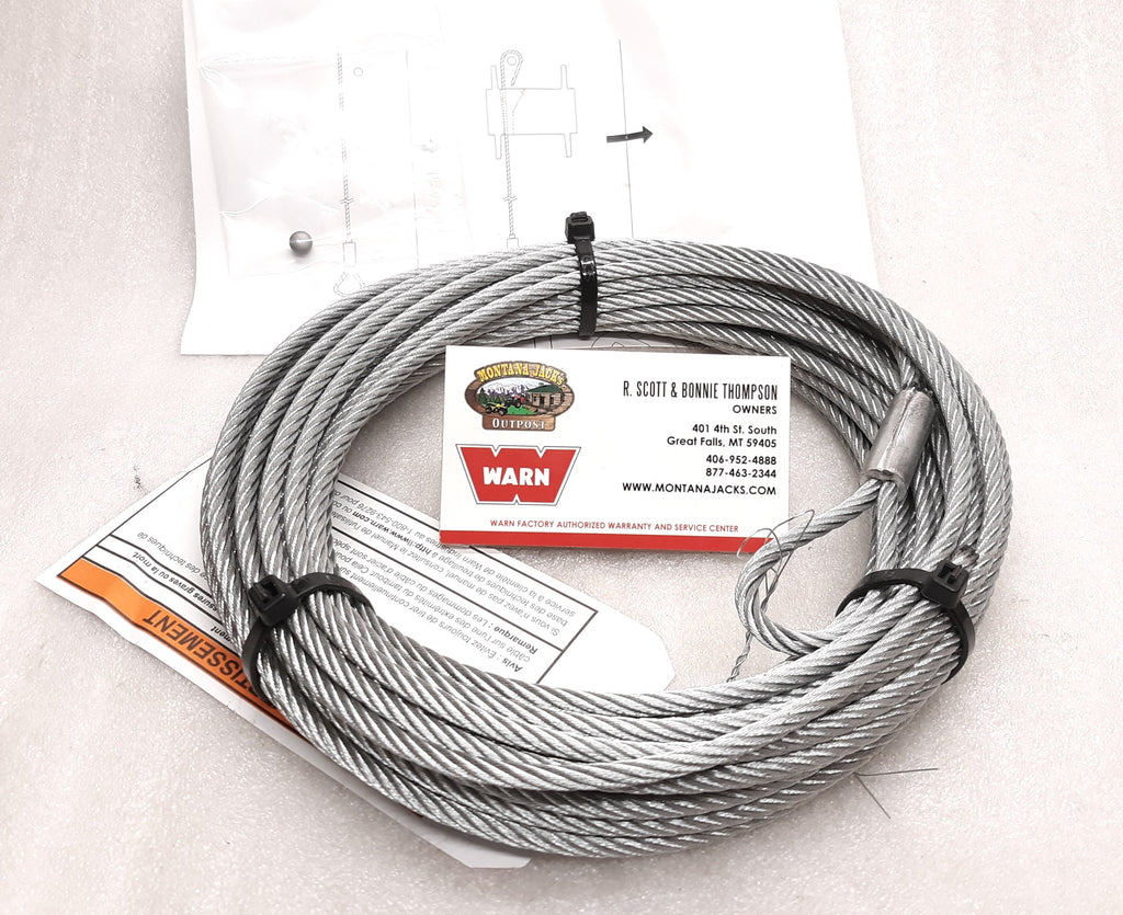 WARN 60076 ATV Replacement Winch Wire Rope, 3/16 x 50 ft