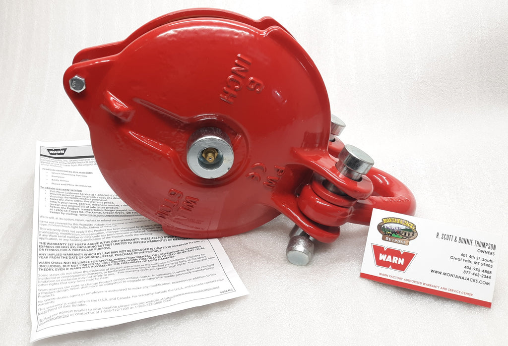 WARN 63490 Snatch Block, Heavy Duty 6 inch, 33,000 lb rating