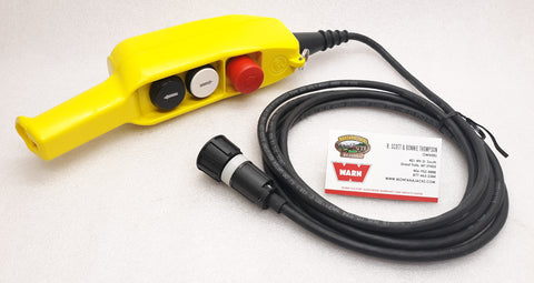 WARN 63680 Industrial Winch Remote Control with E-Stop, 12 ft lead