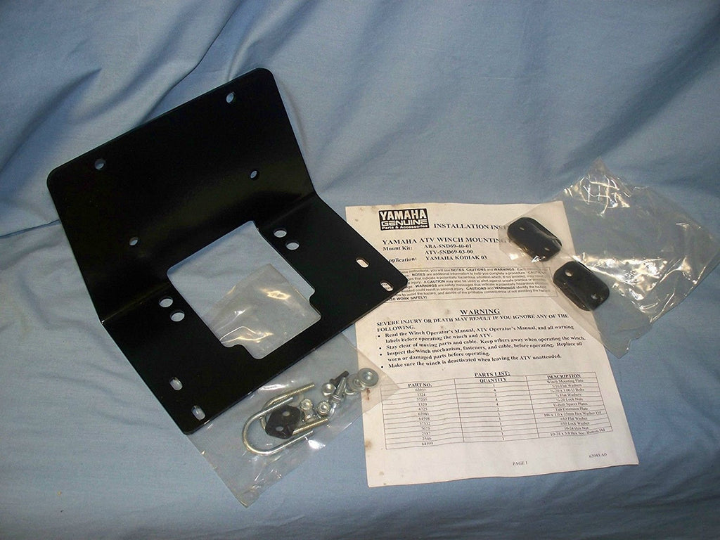 WARN 63942 Winch Mount for Yamaha