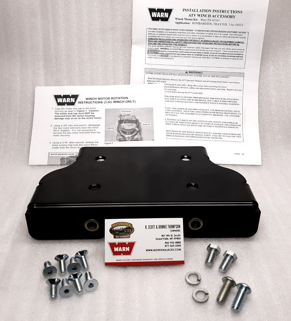 Warn 65563 ATV Winch Mount for 99-05 Can-Am Quest & Traxter