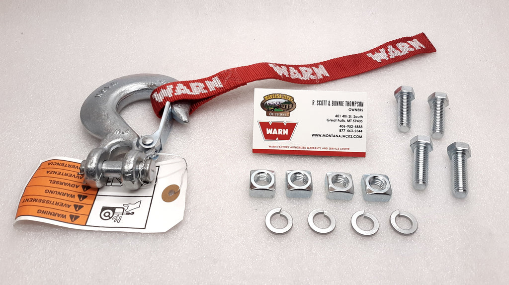 WARN 65661 M8274 Parts Pack; Hook and Mounting Kit
