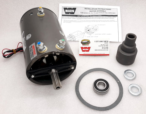 WARN 70865 Winch Motor Kit, 12v, for Series 15 Industrial Winch