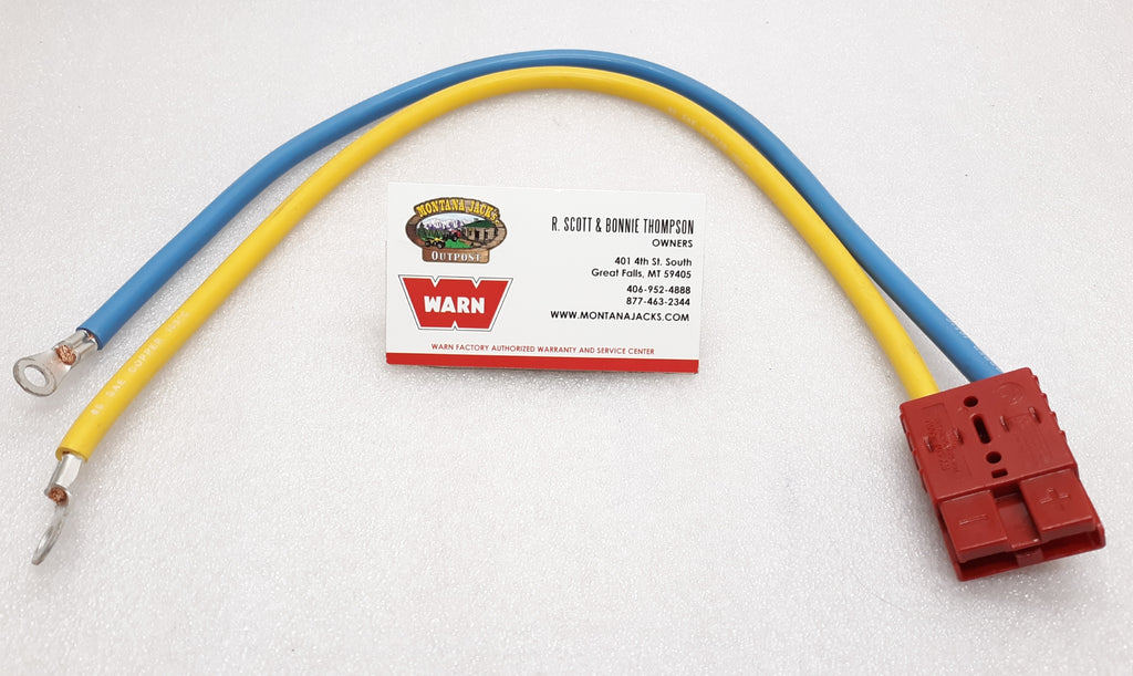 "WARN 70939 Quick Connect Power Cable, 20"" 6 gauge, 1/4"" eyelets"