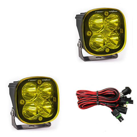 BAJA DESIGNS 727811 LED Light Pods Amber Lens Spot Pair Squadron Racer Edition