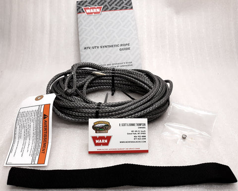 WARN 73599 Synthetic Winch Rope Service Kit 3/16 X 50