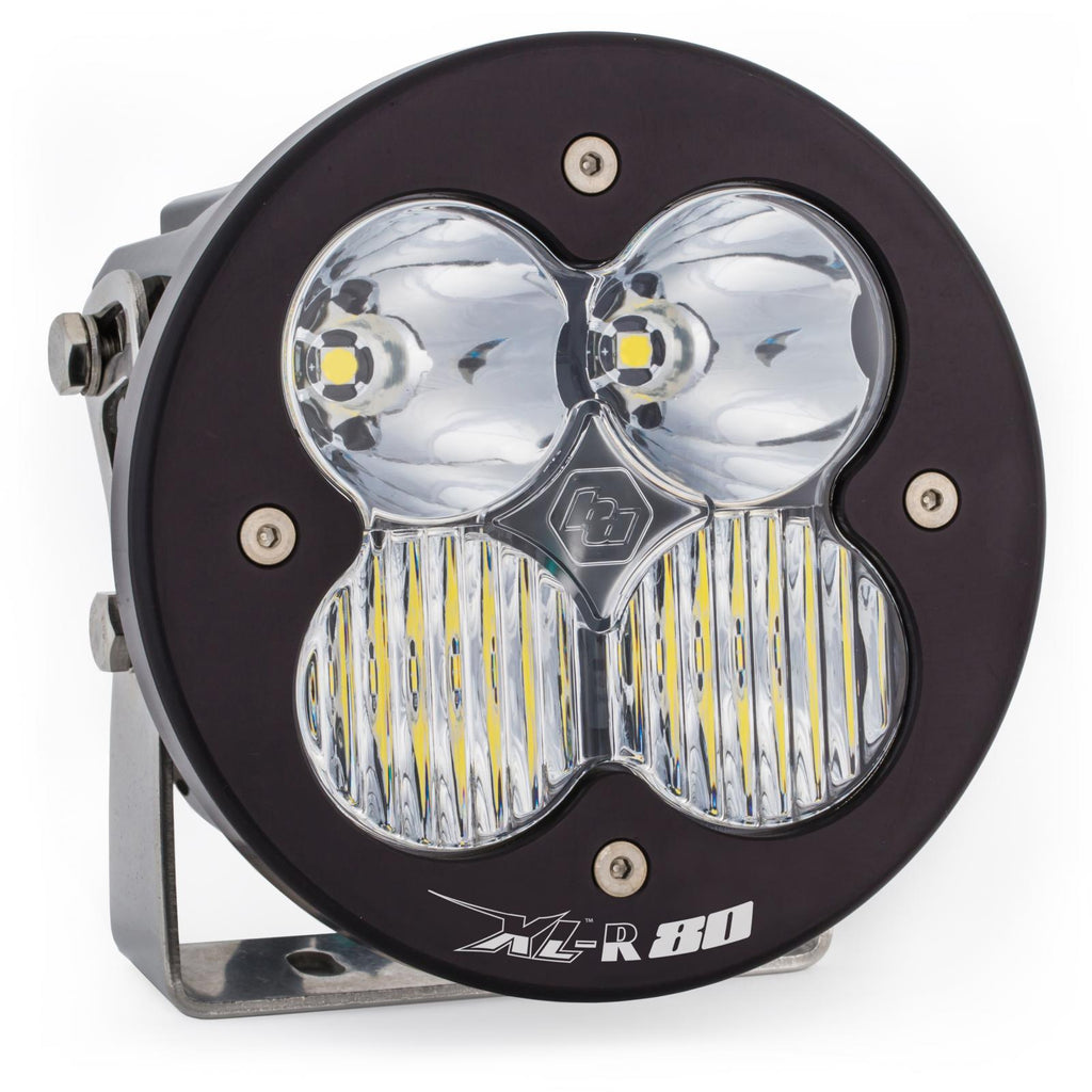 BAJA DESIGNS 760003 LED Light Pods Clear Lens Spot Pair XL R 80 Driving/Combo