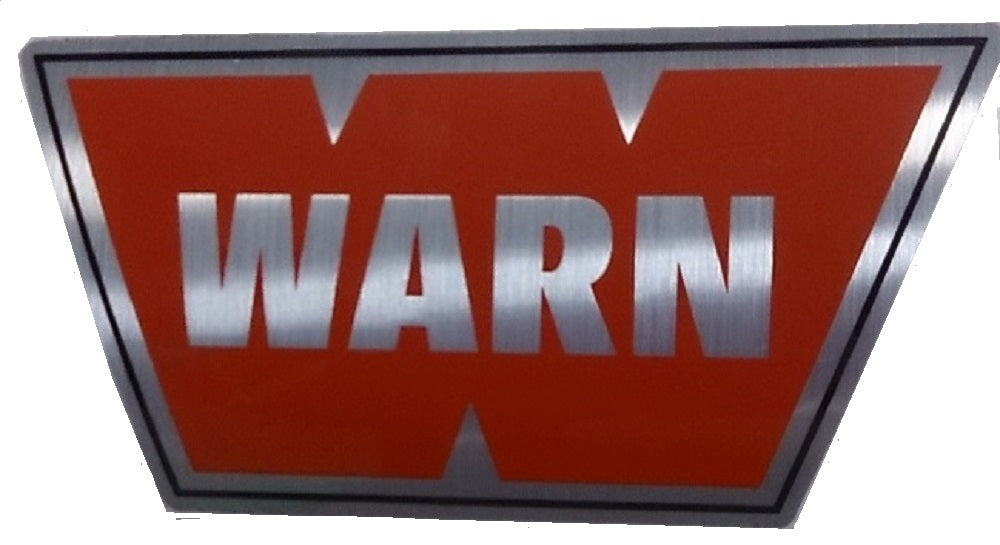 "WARN 7749 WARN Decal 1"" x 3"" Red with Silver Background"