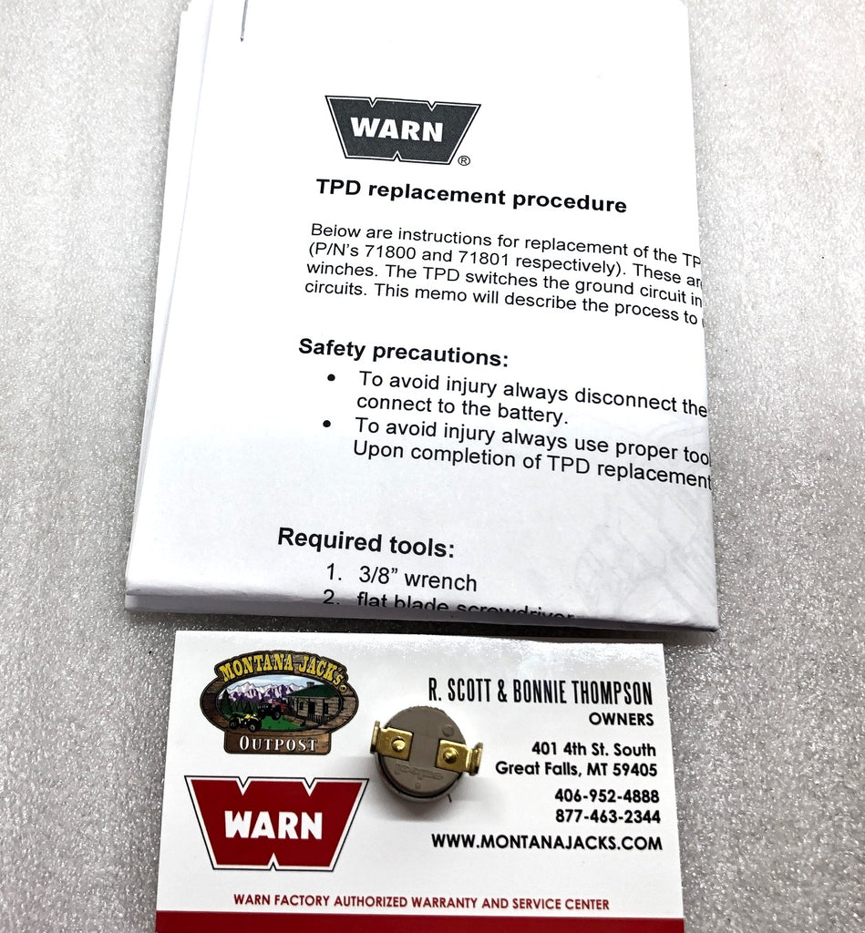 WARN 78354 Temperature Protection Device for 9.5ti and PowerPlant Winches