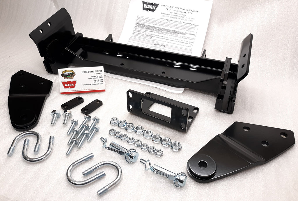 WARN 80534 ATV Front Plow Mount for 2005-14 Yamaha Grizzly