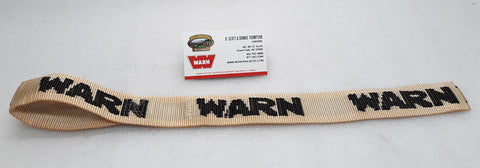 WARN 81764 Winch Hook Safety Strap, Desert Dust