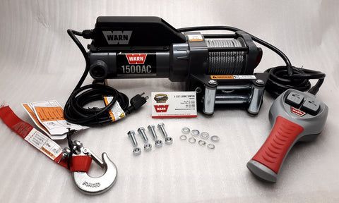 WARN 85330 1500AC Utility Winch with Remote Control