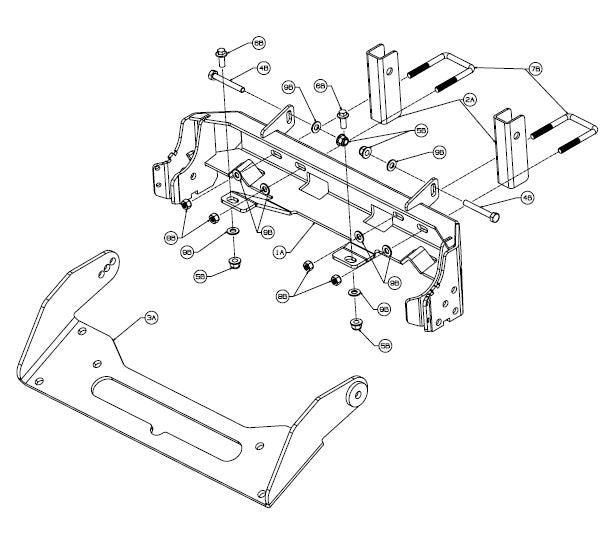 WARN 85690 UTV Plow Mount for Can-Am/Bombardier, FREE