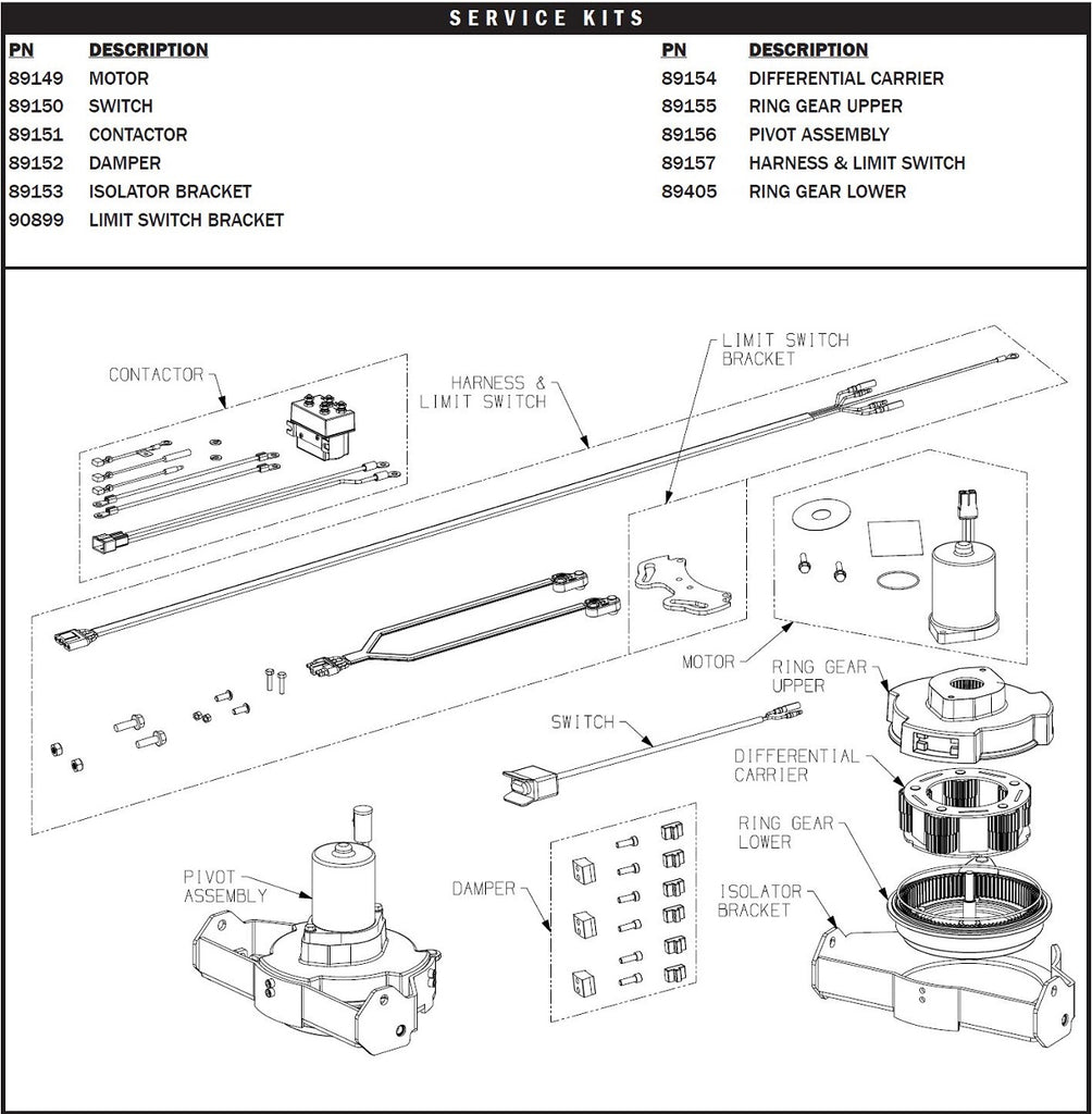 WARN ProPivot 88700 parts view