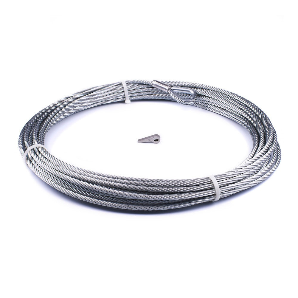 "WARN 89212 Replacement Wire Rope for ZEON 8, 5/16"" x 100'"