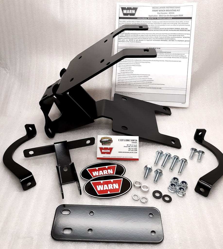 Warn 89535 ATV Winch Mount for 2012-17 CAN-AM Renegade 500/570/800/1000