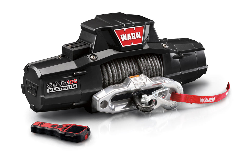 WARN 92815 ZEON 10-S Platinum Winch w/Spydura Synthetic rope