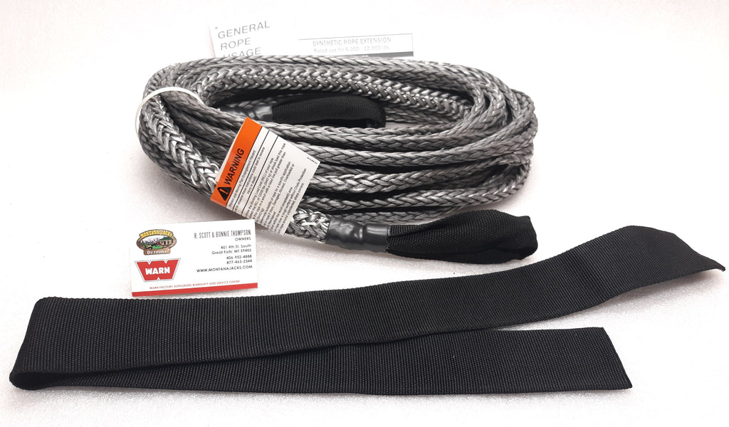 WARN 93122 Spydura Pro Synthetic Rope Extension 3/8' x 50'