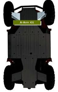 WARN Polaris Front A-Arm Body Armor Kit Part No. WRN-94450