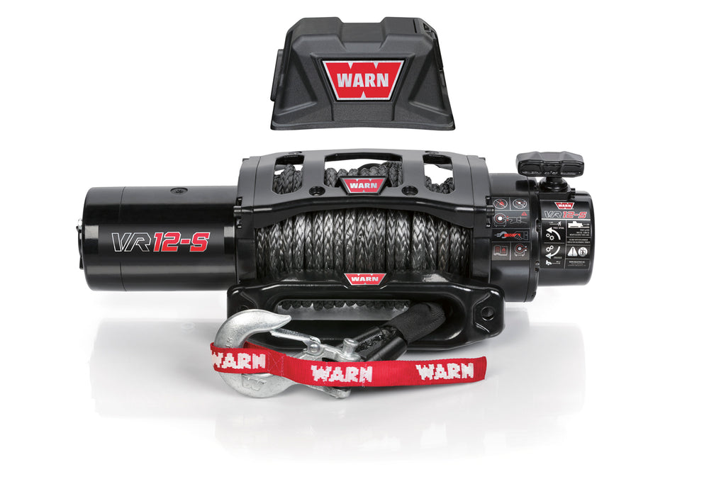 WARN 97035 VR12-S GEN II 12,000 lb. Winch, Synthetic Rope