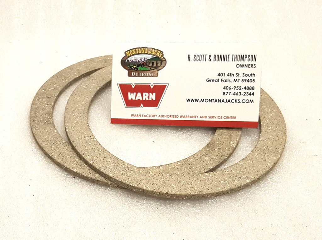 WARN 98382 Winch Brake Friction Discs for M8274 Truck Winch, PAIR