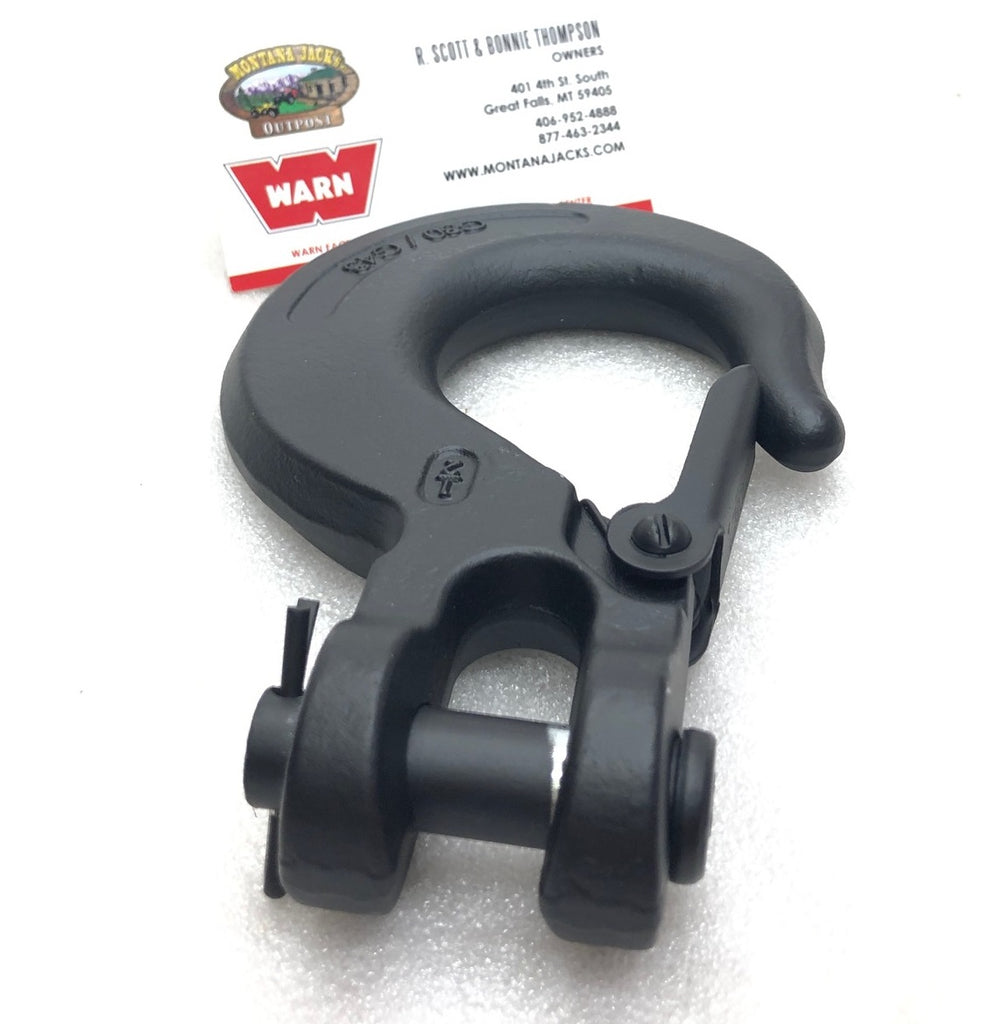 "WARN 98389 Winch Hook, 1/2"" Black"