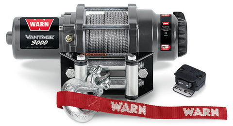 WARN 99388 Vantage 3000 ATV Winch, Wire Rope