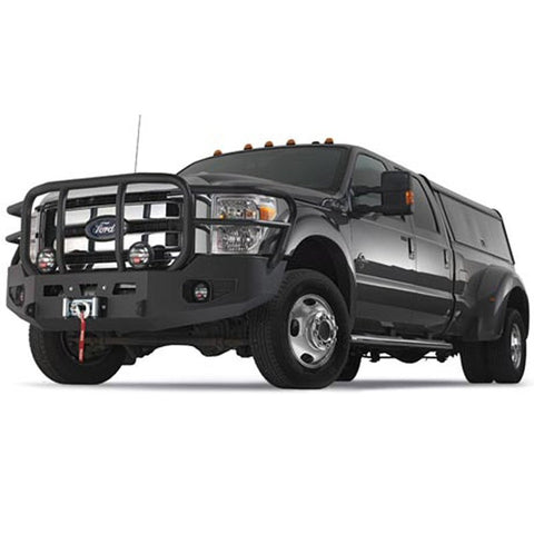 WARN Ford Black Bumper With Grill and Brush Guard 2011-13