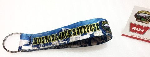 Montana Jack's KS1 Strap Loop Key Chain, Mountain Range Pattern