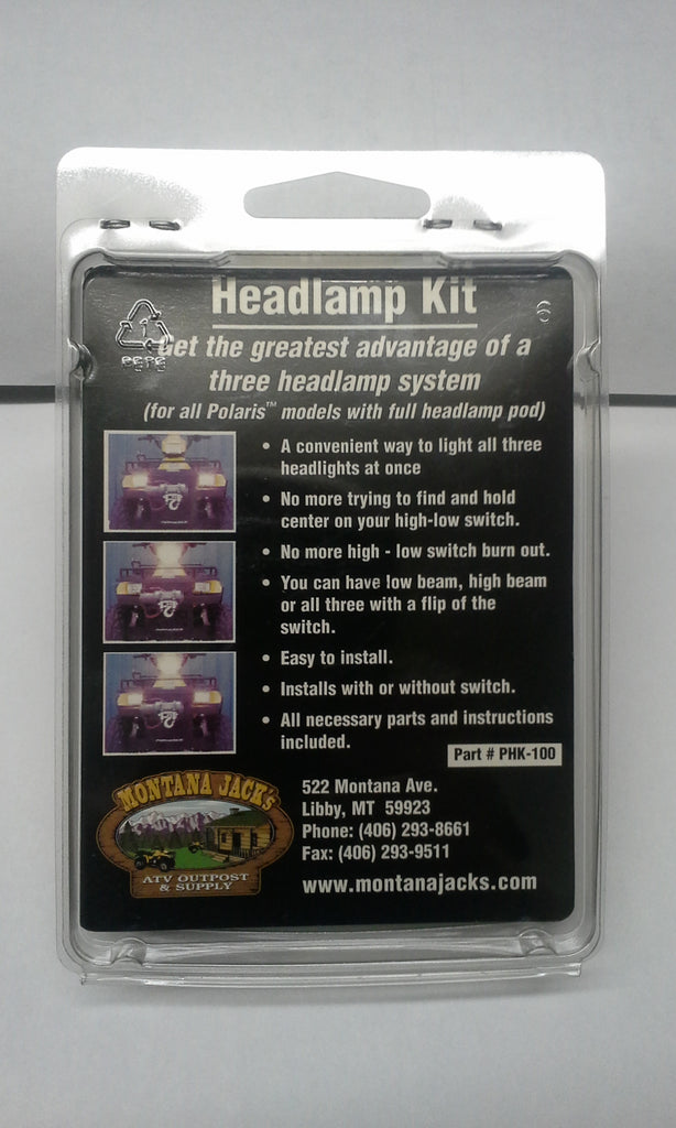 MONTANA JACK'S PHK-100 Polaris ATV Headlamp Improvement Kit