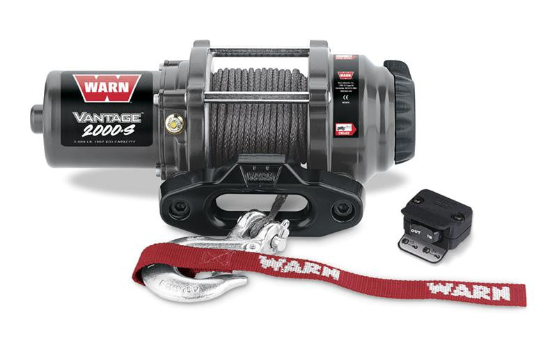 WARN 89021 Vantage 2000-S Winch With Synthetic Rope